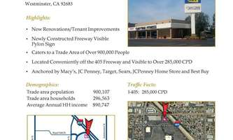 Retail Space for Rent located at 524 WESTMINSTER MALL Westminster, CA 92683