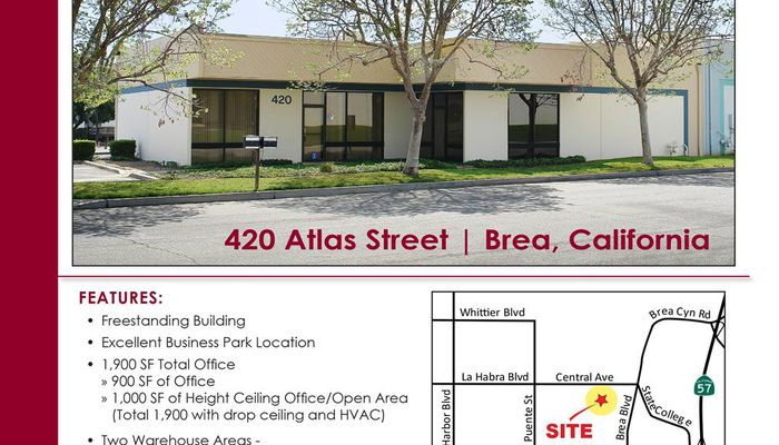 Warehouse for Lease located at 420 Atlas Brea, CA 92821