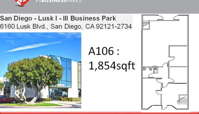 Lab Space for Lease located at 6160 Lusk Blvd San Diego, CA 92121